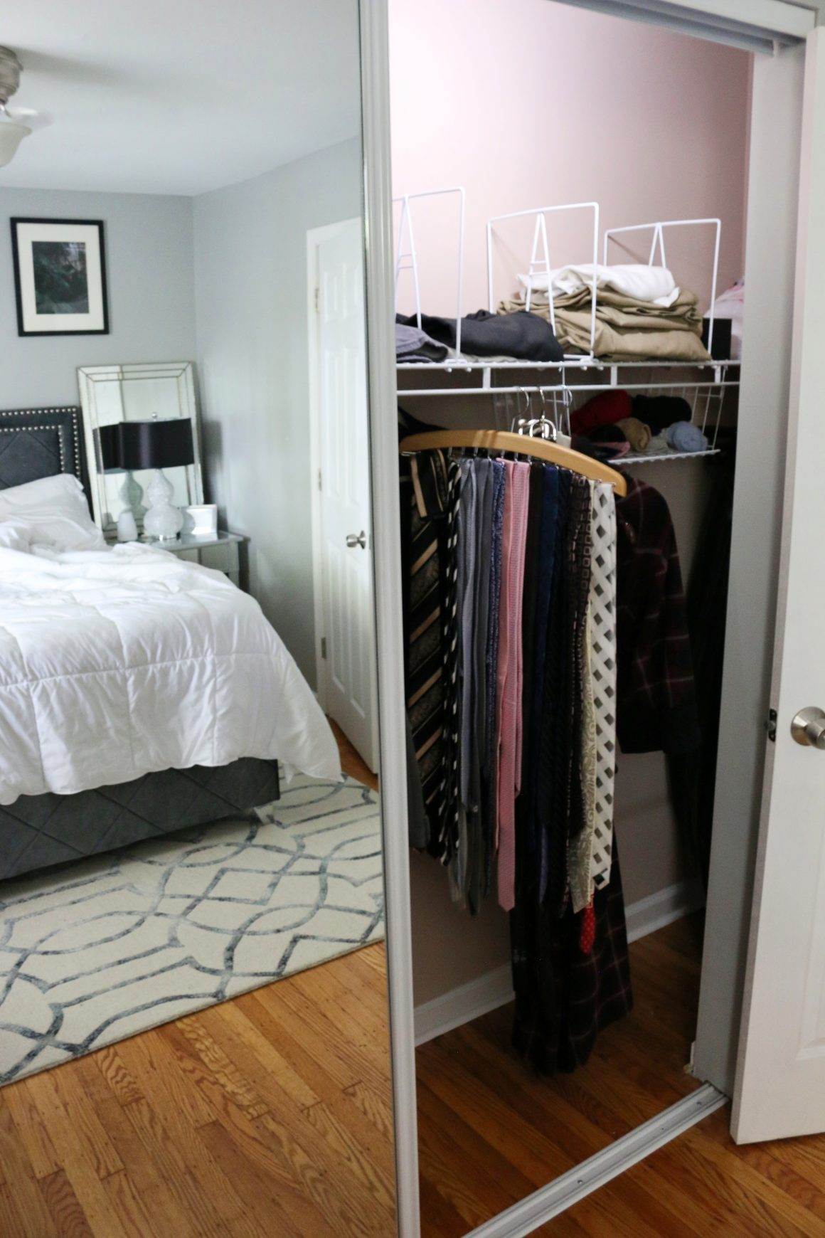 master small closet organization